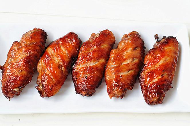 无油香酥鸡翅成品图