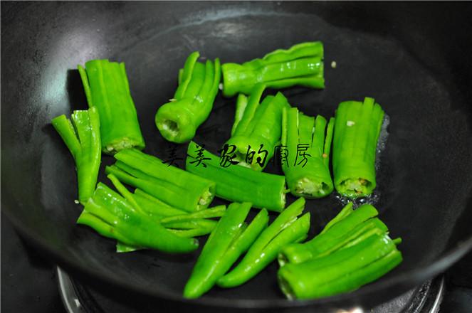 蒜米拌青椒的简单做法