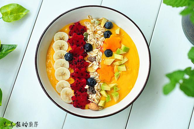 芒果奶昔碗成品图