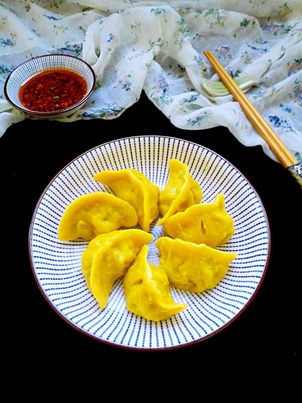 黄金韭菜饺成品图