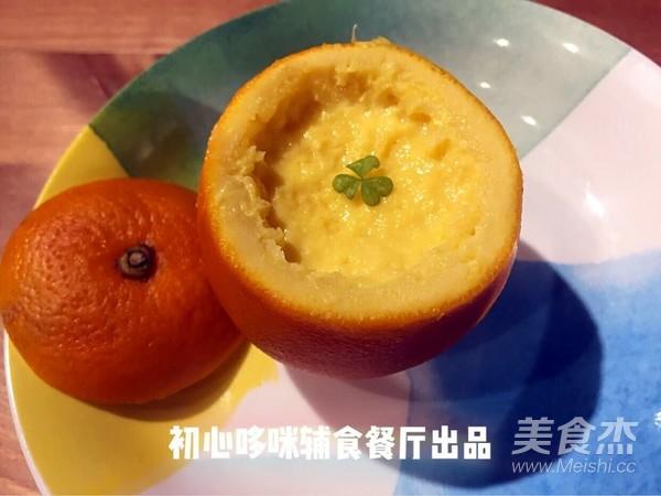 宝宝辅食――香橙蛋羹成品图