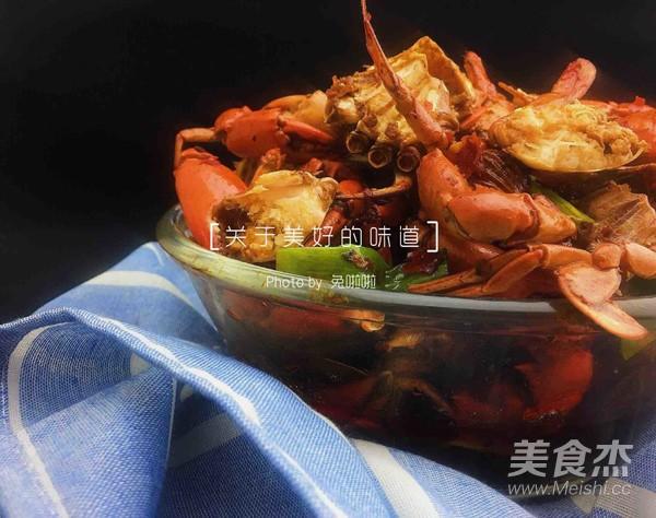 香辣蟹成品图