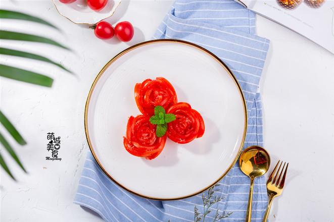 糖拌西红柿成品图