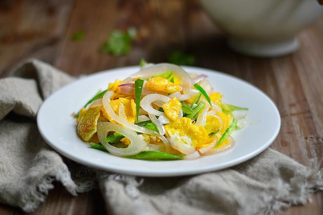 洋葱青椒炒蛋成品图