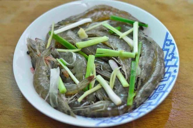 美食DIY——清蒸姜葱虾