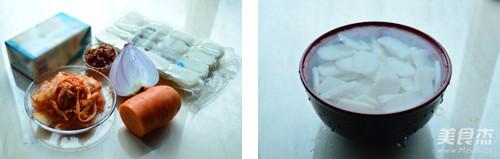 辣白菜炖年糕的做法大全