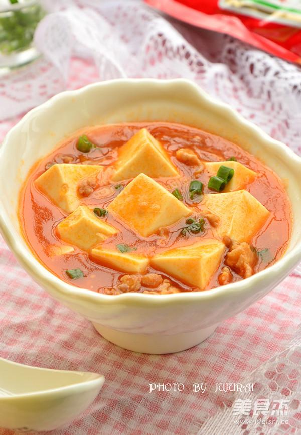 红烩肉末豆腐成品图