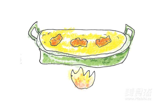 手绘食谱:菠萝油条虾 海洋里住着很多生命 很多鱼很多虾的家常做法