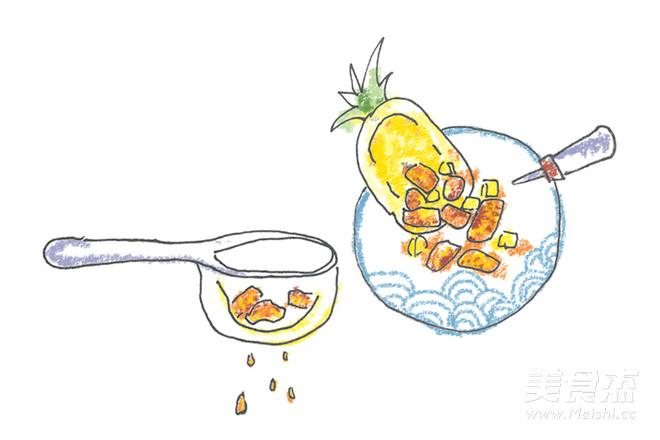 手绘食谱:菠萝油条虾 海洋里住着很多生命 很多鱼很多虾的简单做法