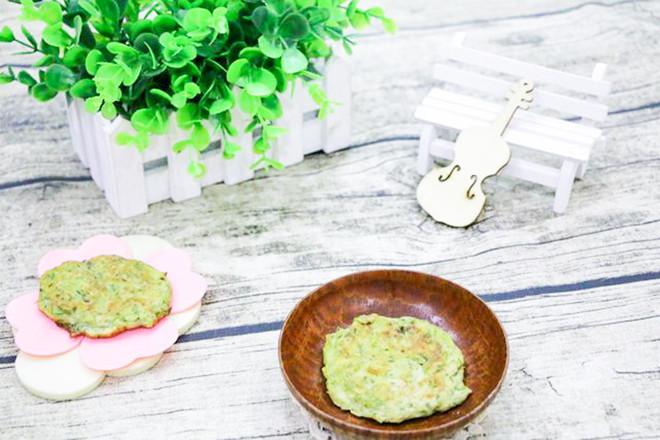 秋葵豆腐饼成品图