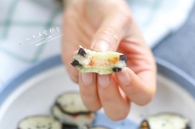 虾仁蒸茄盒成品图