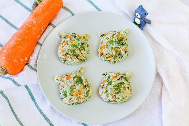 蔬菜蛋蒸肉成品图
