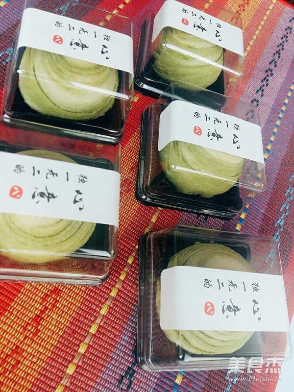 抹茶红豆酥成品图