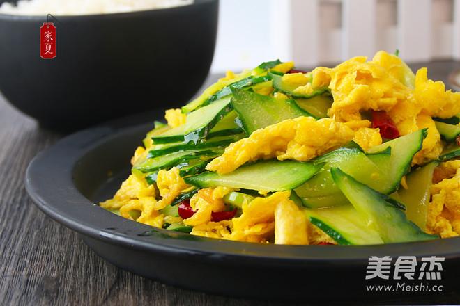 『家夏』家常黄瓜炒鸡蛋 超级美味简单快手菜怎么做