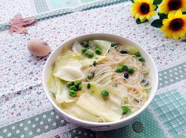 豆豉素汤面成品图
