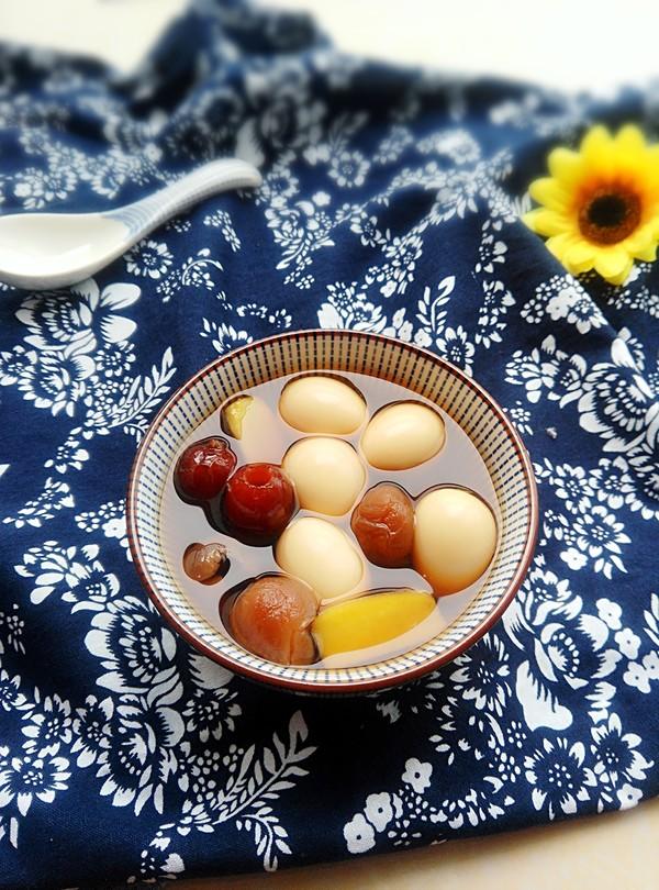 红枣桂圆鹌鹑蛋汤成品图