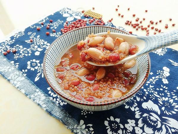 红豆花生小米粥成品图