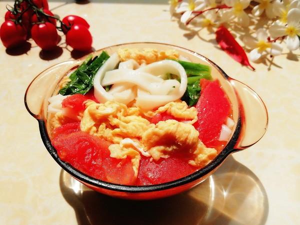 番茄鸡蛋汤粉成品图