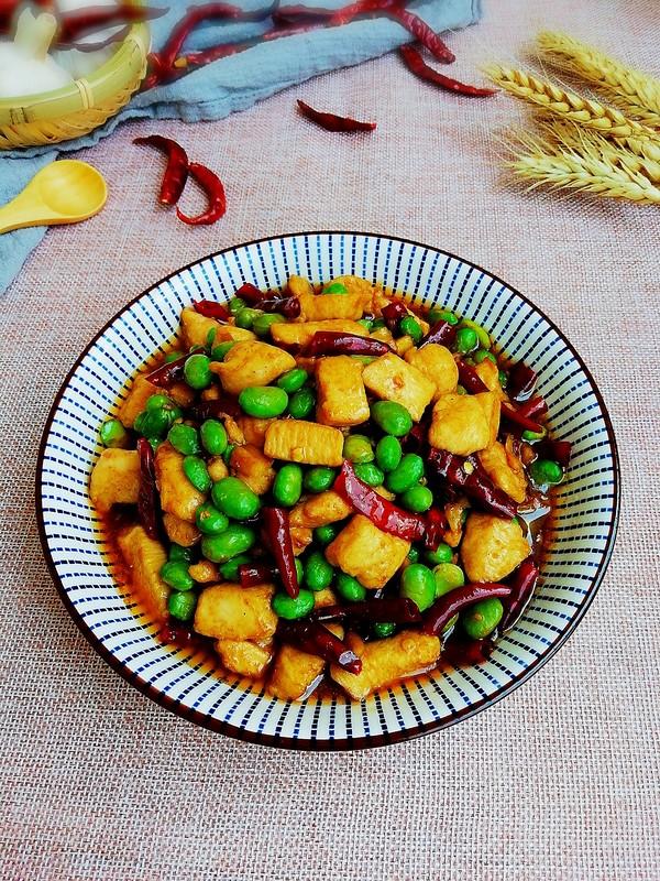 美食DIY——毛豆炒鸡丁