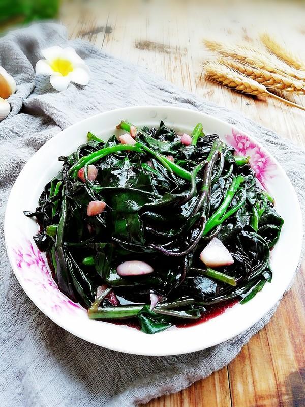 蒜蓉紫贝菜成品图