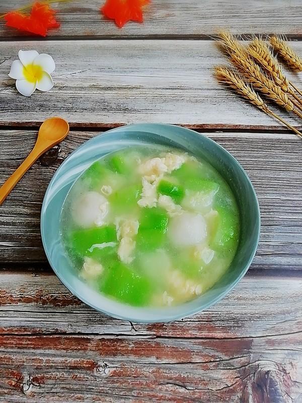 丝瓜鱼丸蛋汤成品图