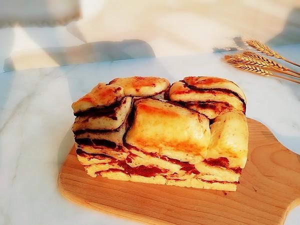 奶香红豆沙吐司成品图
