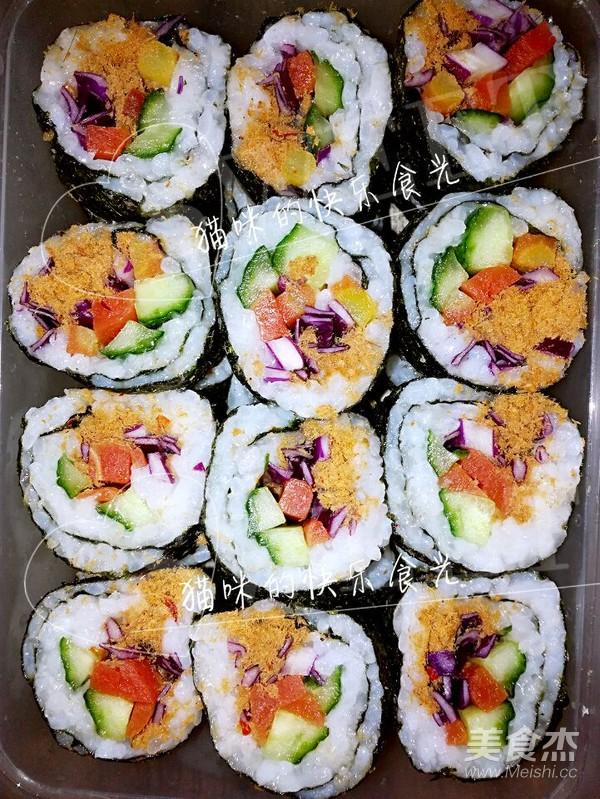 寿司的制作成品图