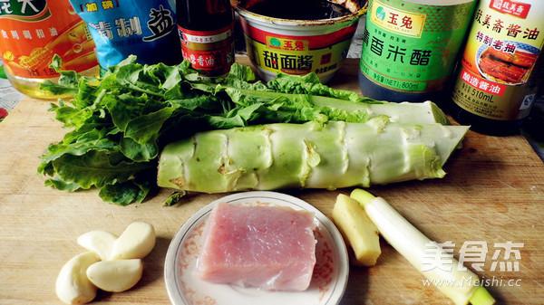 莴苣炒肉片的做法大全