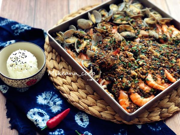 【烤箱版】海鲜大咖成品图