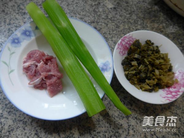 里脊肉雪菜炒莴笋的做法大全