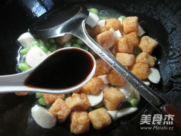 毛豆茭白煮小油豆腐怎么吃