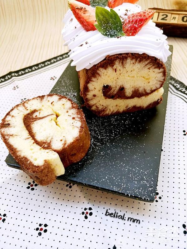 双味蛋糕卷成品图