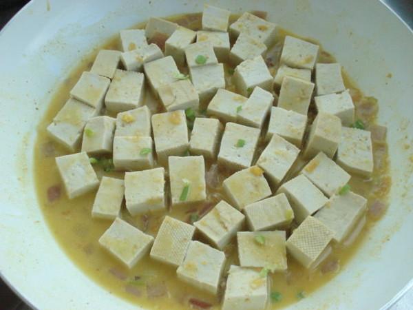 咸蛋黄豆腐怎么煮