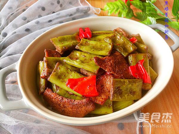 刀豆炒肉成品图