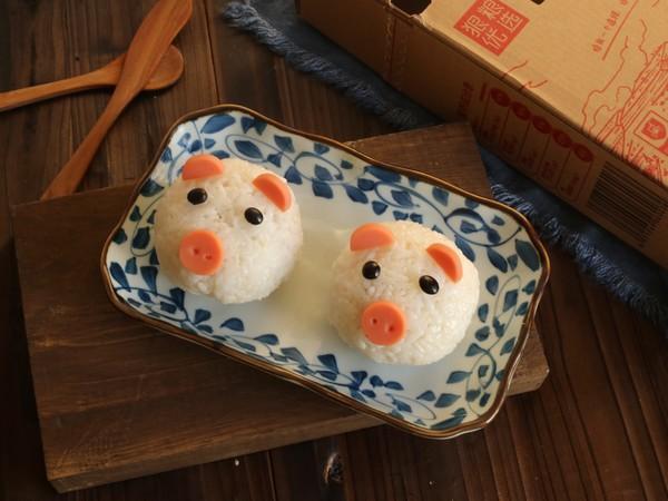 小猪饭团成品图