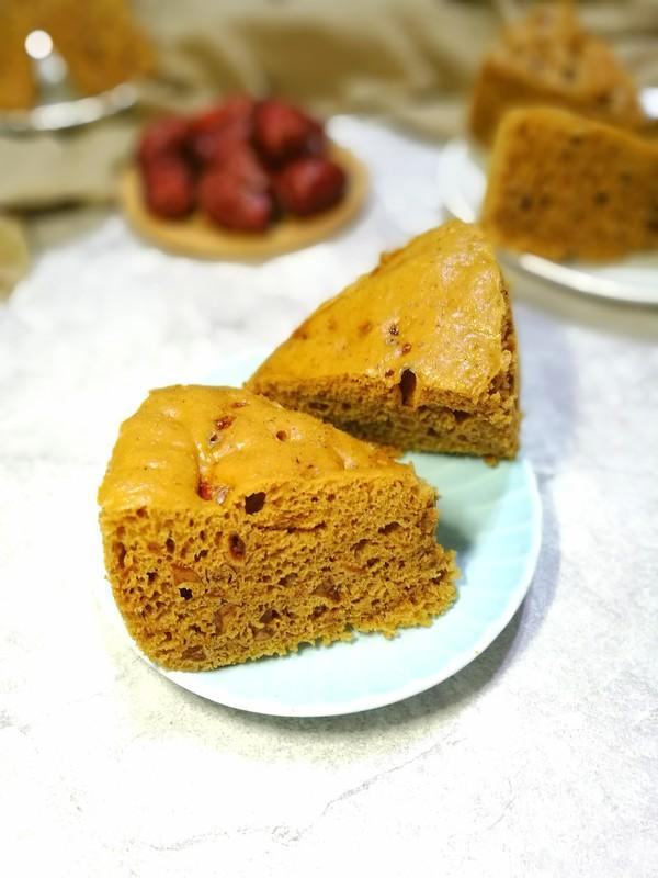 红糖红枣发糕成品图