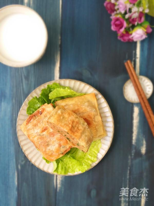 馄饨皮千层肉饼成品图