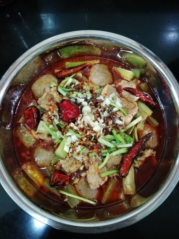 水煮肉片成品图