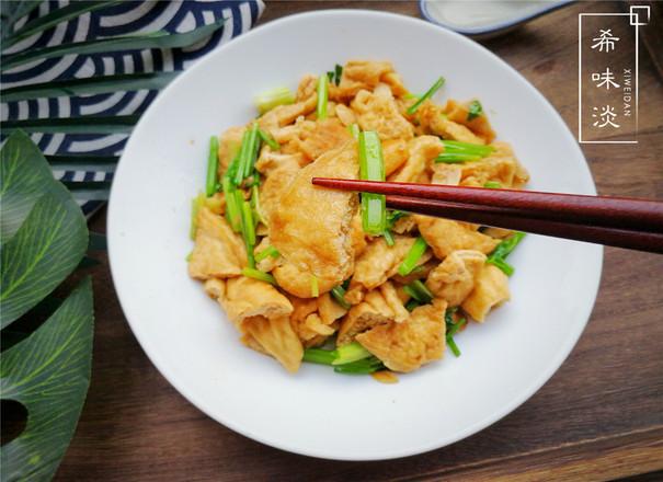 美食DIY——芹菜炒油豆干