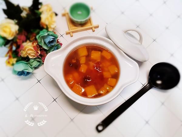 桃胶南瓜糯米汤成品图