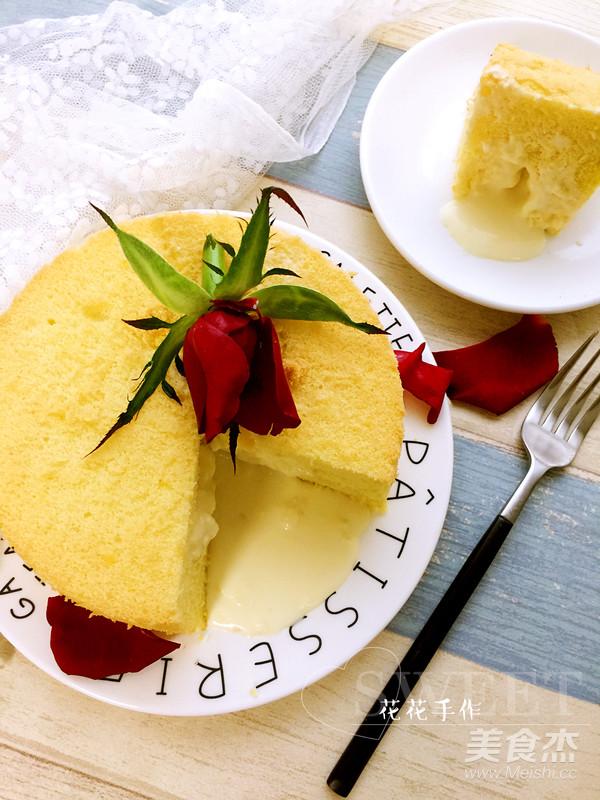 流心蛋糕成品图