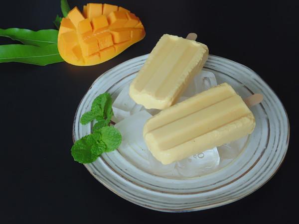 芒果奶油雪糕成品图