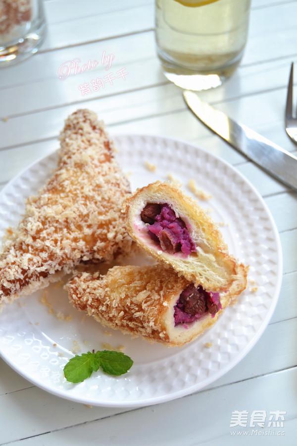 广东紫薯面包角成品图