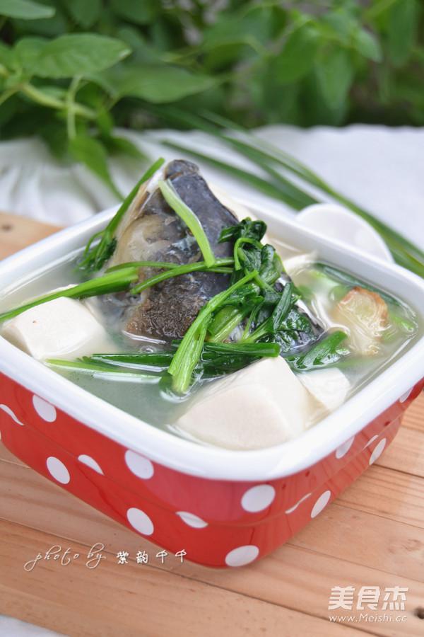 鱼头豆腐汤成品图