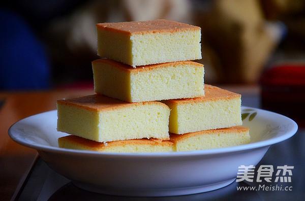 全蛋海绵蛋糕成品图