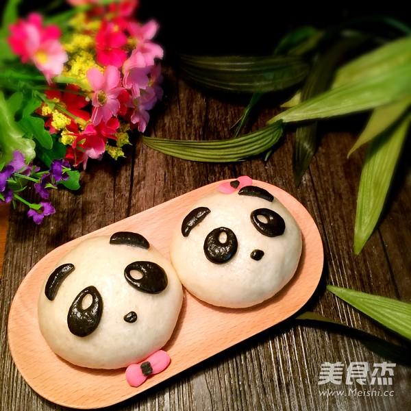 熊猫豆沙包成品图