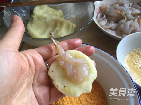 土豆泥芝士虾球怎么吃