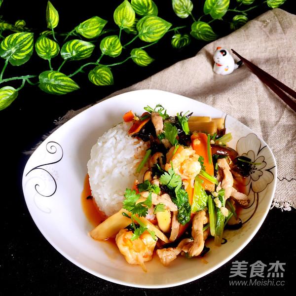 中华烩饭成品图