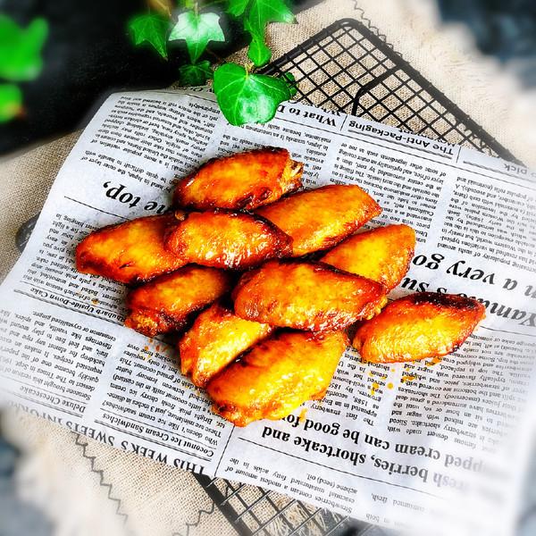 新奥尔良烤翅成品图