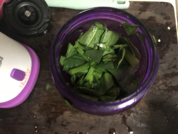 菠菜油条的做法图解
